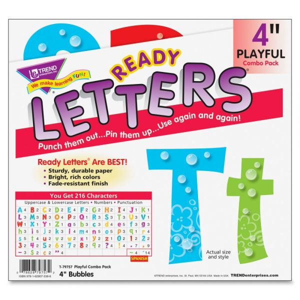 Trend Bubbles Playful Uppercase/Lowercase Ready Letters
