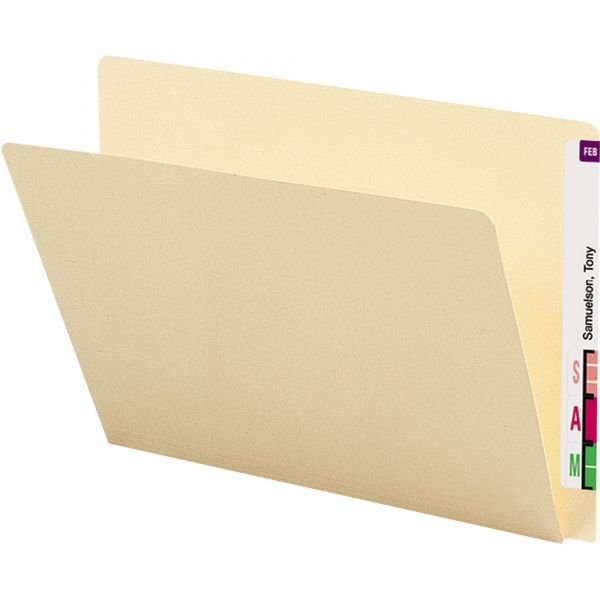 Smead Letter Size End Tab File Folders with Extended Tabs