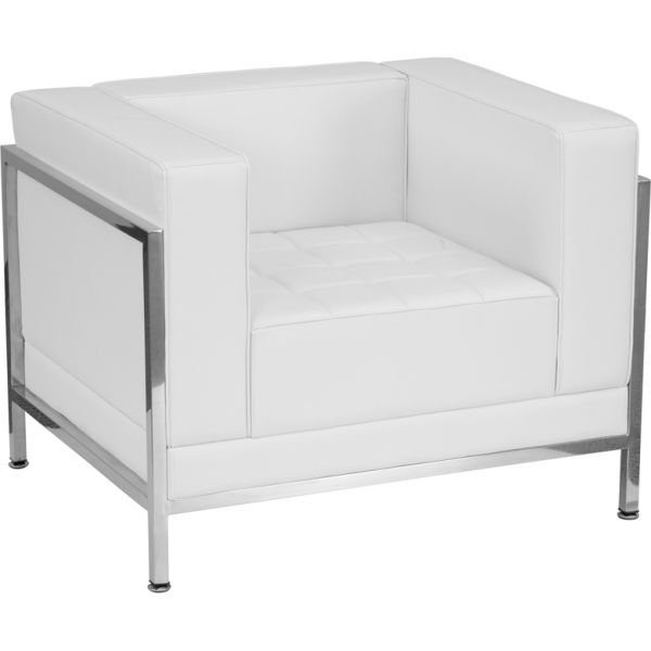 Flash Furniture White Leather Chair