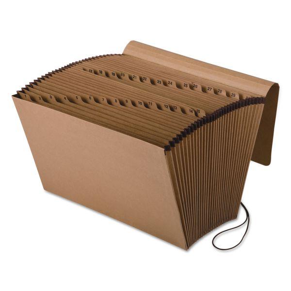 Pendaflex Kraft Indexed Expanding File, 31 Pockets, Kraft, Legal, Brown