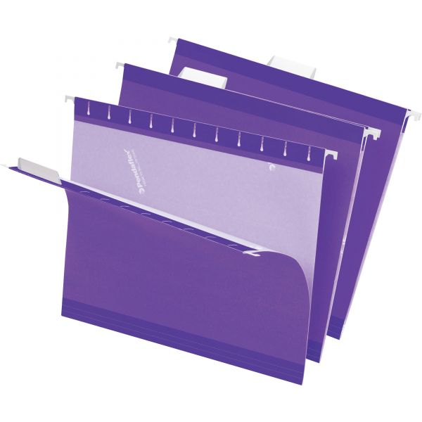 Pendaflex Reinforced Hanging Folders, 1/5 Tab, Letter, Violet, 25/Box