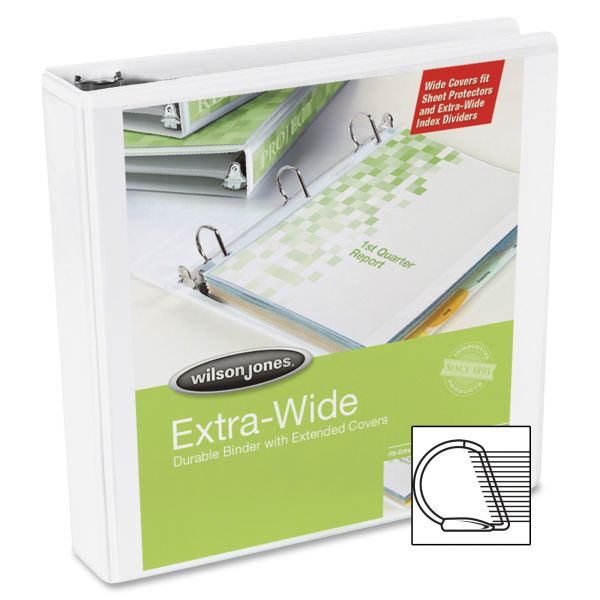"Wilson Jones Extra-Wide 3"" 3-Ring View Binder"
