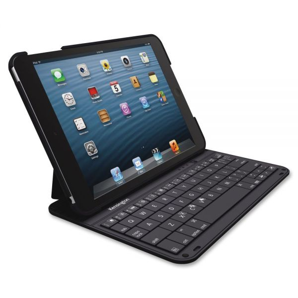 Kensington KeyFolio Thin Keyboard/Cover Case (Folio) for iPad mini, iPad mini 3, iPad mini with Retina Display - Black