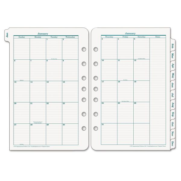 Franklin Covey Original Planning Sys Monthly Refill Tabs