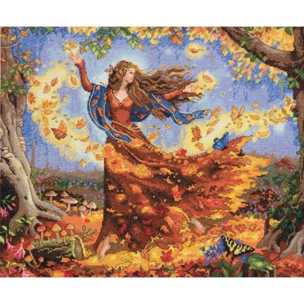 Dimensions Gold Collection Fall Fairy Counted Cross Stitch Kit