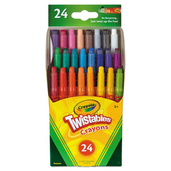 Crayola Twistables Mini Crayons, 24 Colors/Pack