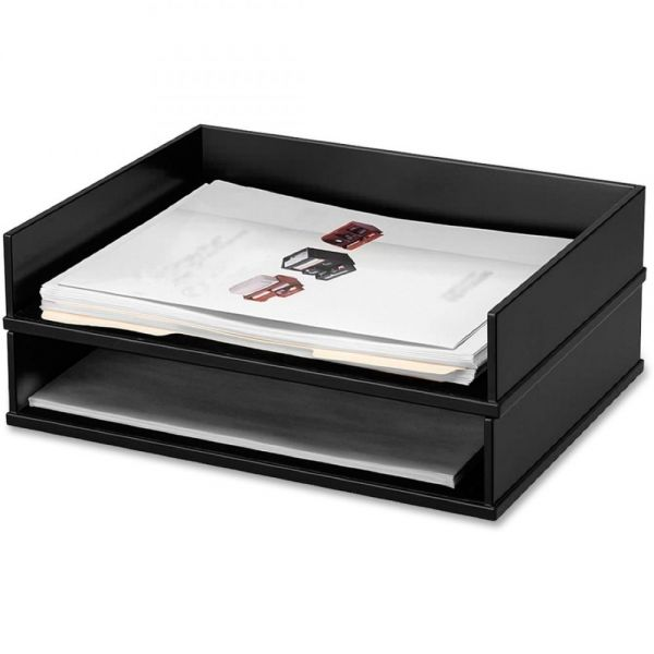 Victor Midnight Black Stacking Letter Tray