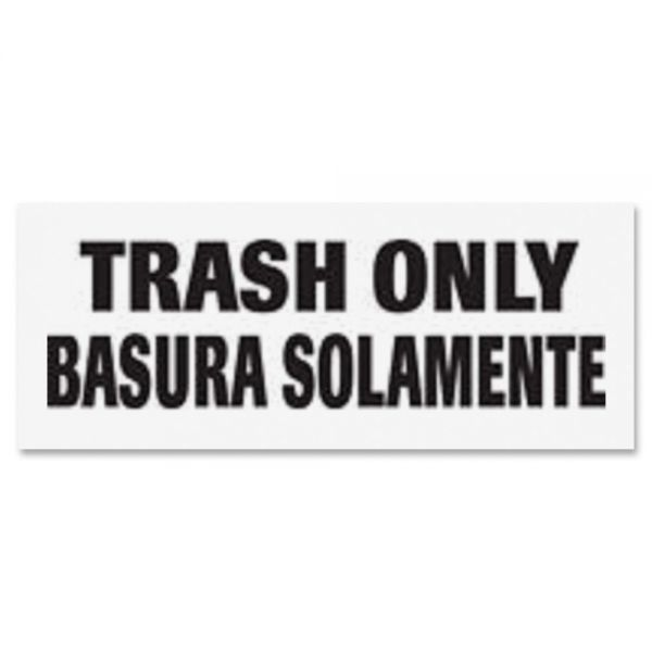 "Rubbermaid Commercial ""Trash Only"" Decal"