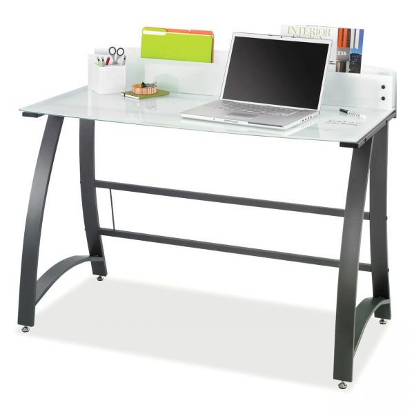 Safco Xpressions Computer Workstation, 47w x 23d x 37h, Frosted/Black