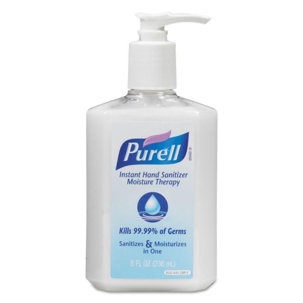 PURELL Moisture Therapy Instant Hand Sanitizer, 236 mL Pump Bottle, White