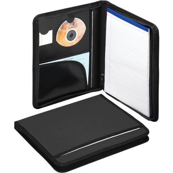 Smead 85840 Zippered Pad Folio