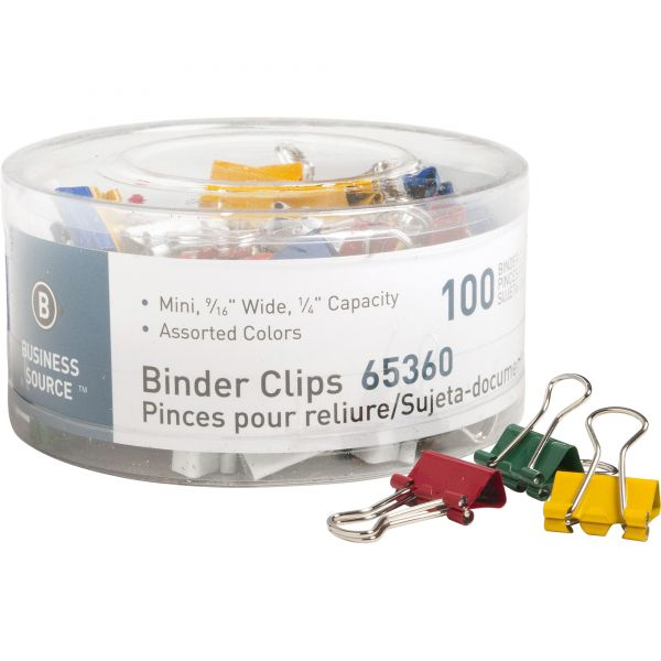 Business Source Mini Binder Clips