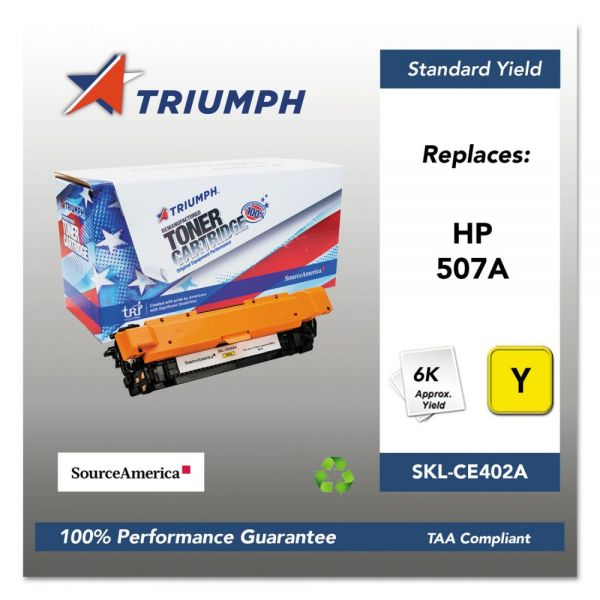 Triumph Remanufactured HP 507A (CE402A) Toner Cartridge