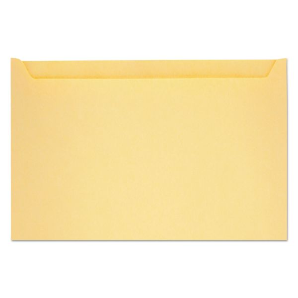 "Quality Park Paper File Jackets, 5"" x 8 1/8"", 28 lb Manila, Buff, 500/Box"