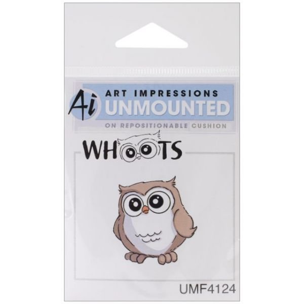 "Art Impressions Hoot! Cling Rubber Stamp 1""X1.5"""