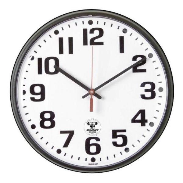 Skilcraft Atomic Slimline Wall Clock