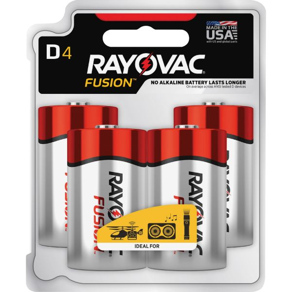 Rayovac Fusion Performance D Batteries
