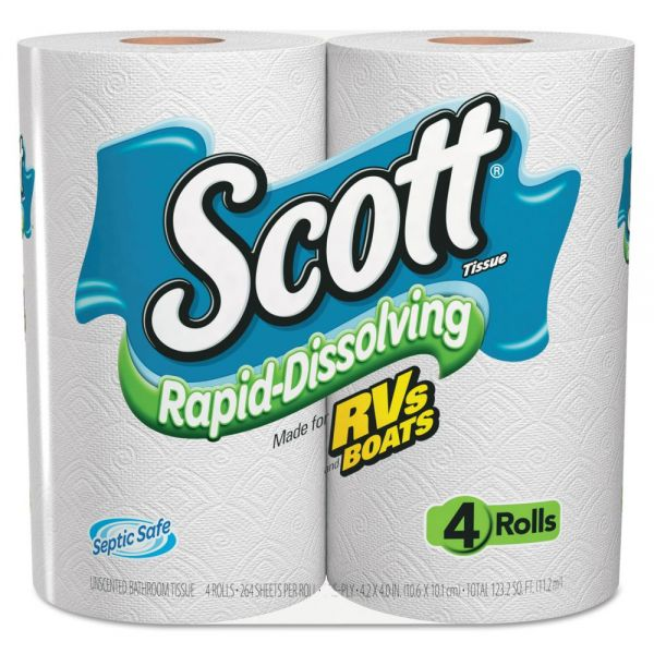 Scott Rapid Dissolving 1 Ply Toilet Paper