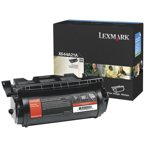 Lexmark X644A21A Black Toner Cartridge