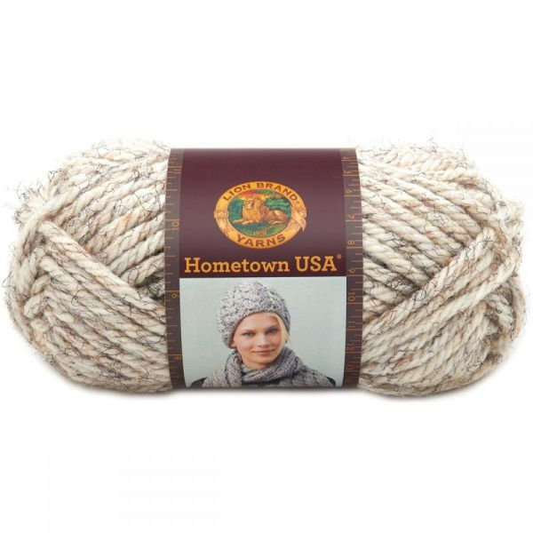 Lion Brand Hometown USA Yarn - Kansas City Wheat Tweed