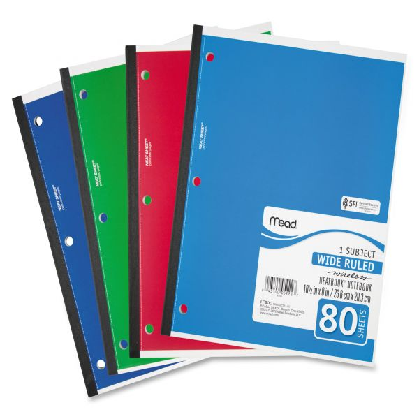 Mead Single Subject 3-Hole Notebook