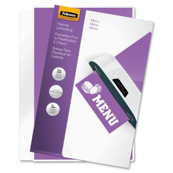 Fellowes Menu Size Laminating Pouches