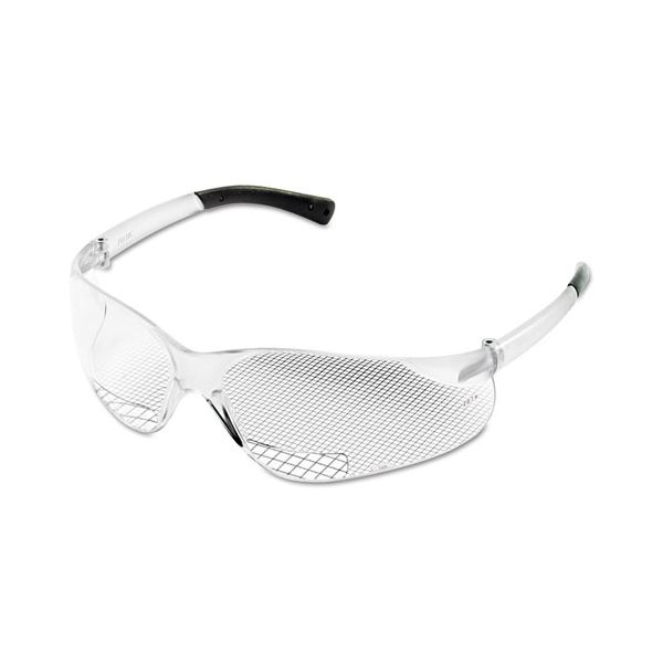 MCR Safety Bearkat Magnifier Protective Eyewear, Clear, 1.00 Diopter