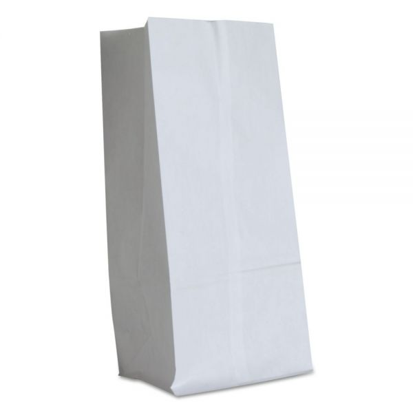 General #16 Paper Grocery Bag, 40lb White, Standard 7 3/4 x 4 13/16 x 16, 500 bags
