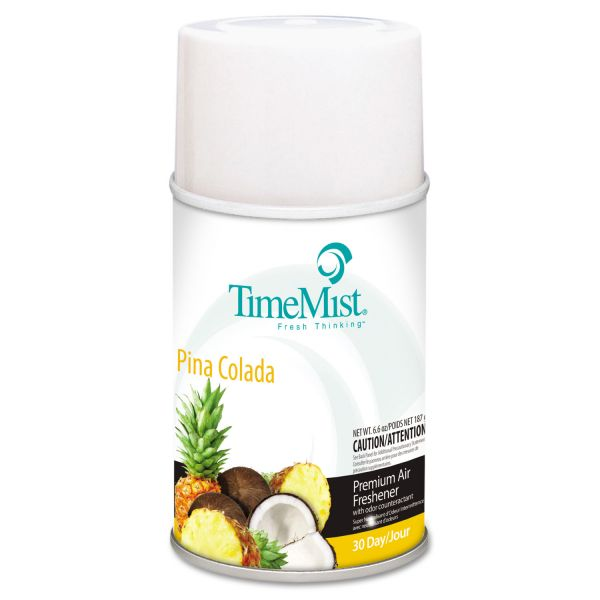 TimeMist Metered Fragrance Dispenser Refills, Pina Colada, 6.6 oz, 12/Carton
