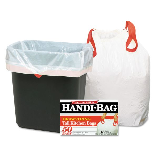 Handi-Bag Drawstring 13 Gallon Trash Bags