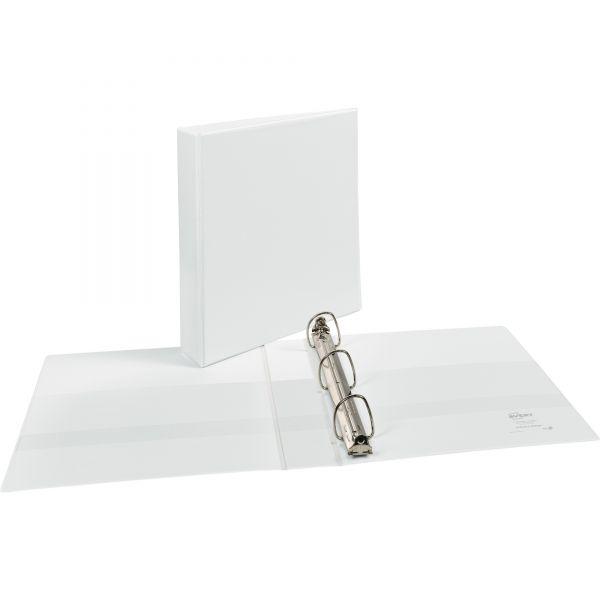 "Avery Durable 3-Ring View Binder w/Nonlocking EZD Rings, 1 1/2"" Capacity, White"