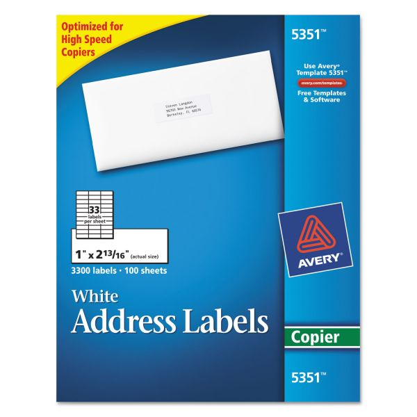 Avery Copier Address Labels