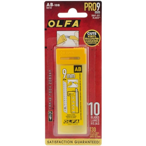 Snap-Off Utility Knife Replacement Blades 10/Pkg