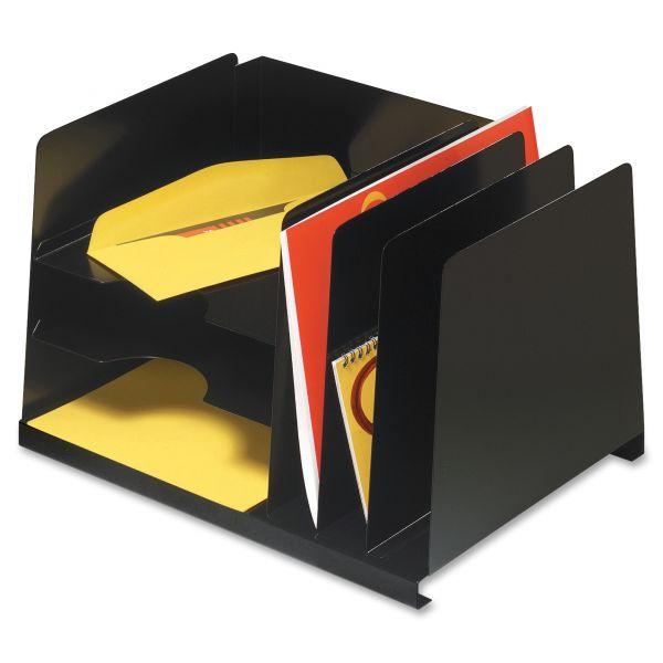 SteelMaster Combination Horizontal/Vertical Steel File, Six Sections, 15 x 11 x 8 1/8, Black