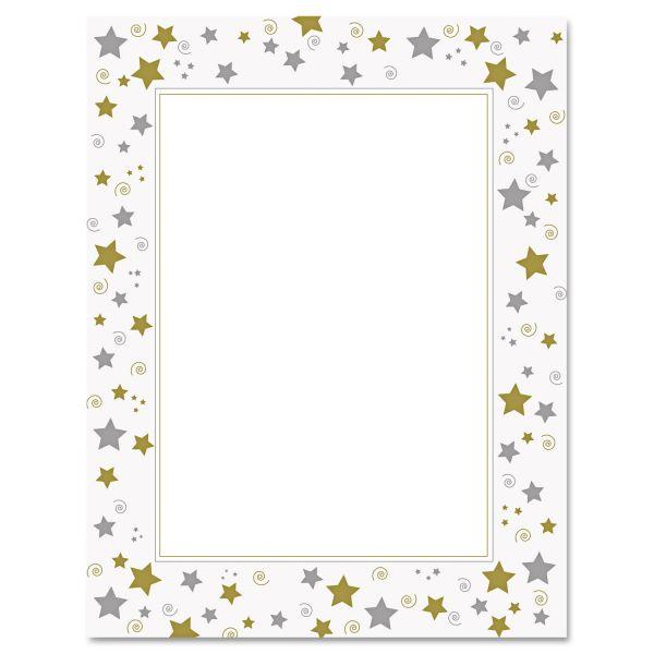 Geographics Stars & Swirls Foil Certificate Paper