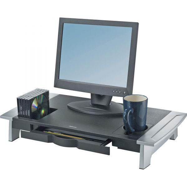 Fellowes Office Suites Premium Monitor Riser, 27 x 14 x 4 1/4, Black/Silver