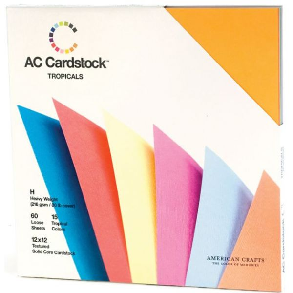 American Crafts Seasonal Textured Cardstock Pack