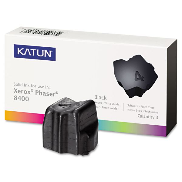 Katun 38707 Compatible 108R00604 Solid Ink Stick, Black, 3/BX