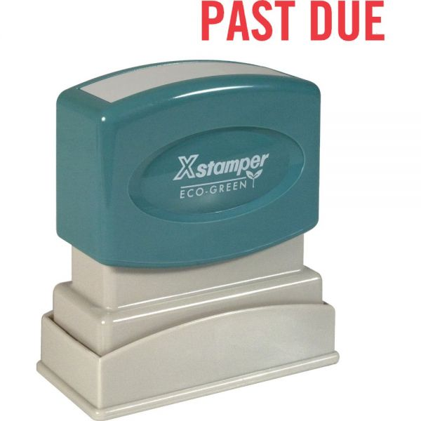 Xstamper PAST DUE Title Stamp