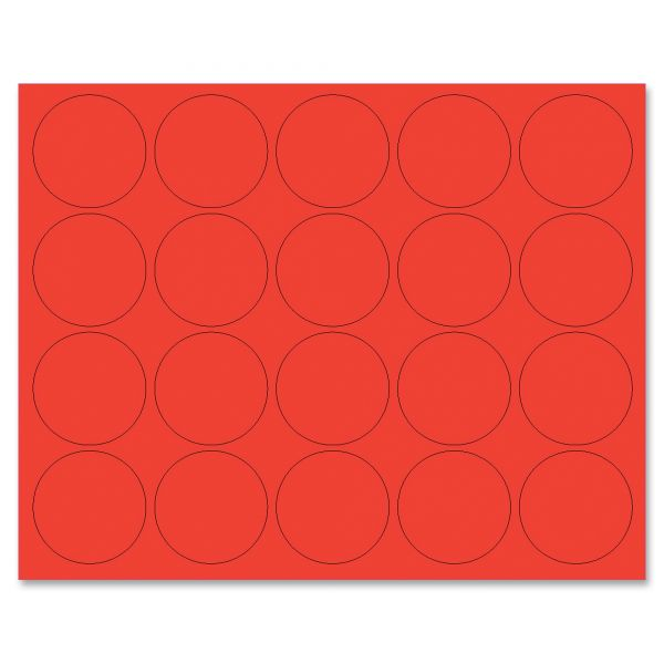 "MasterVision Interchangeable Magnetic Characters, Circles, Red, 3/4"" Dia., 20/Pack"