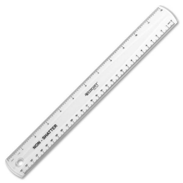 Westcott Shatter-Proof Clear Ruler