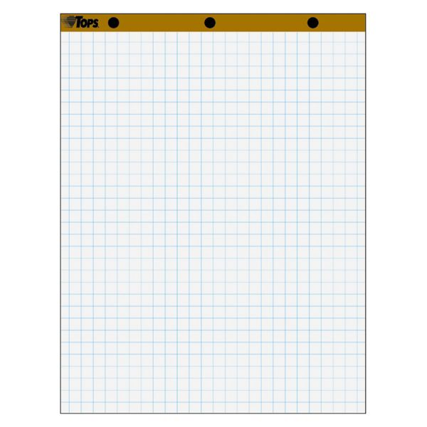 "TOPS 1"" Grid Square Ruled Easel Pads"