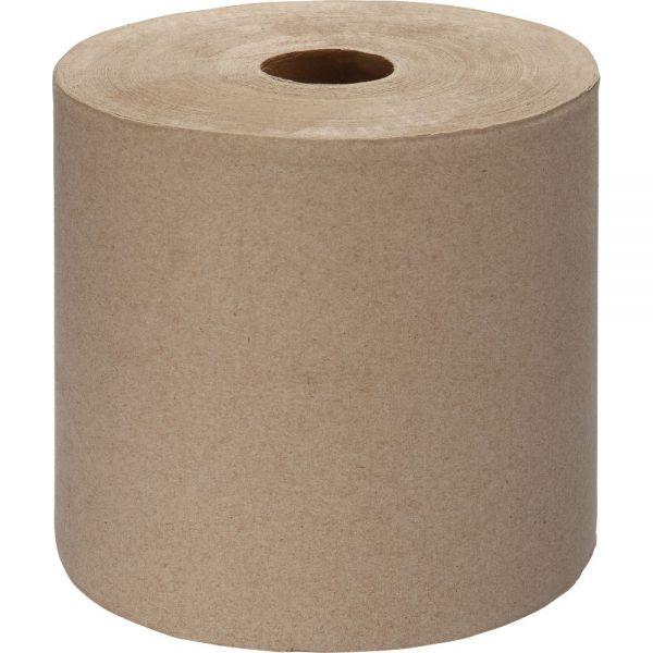 Genuine Joe Embossed Hardwound Paper Towel Rolls