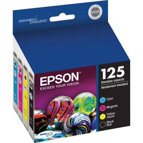 Epson 125 Black/Color Combo Pack Ink Cartridges (T125120-BCS)