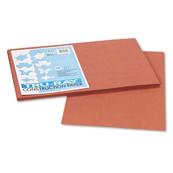 Tru-Ray Sulphite Brown Construction Paper