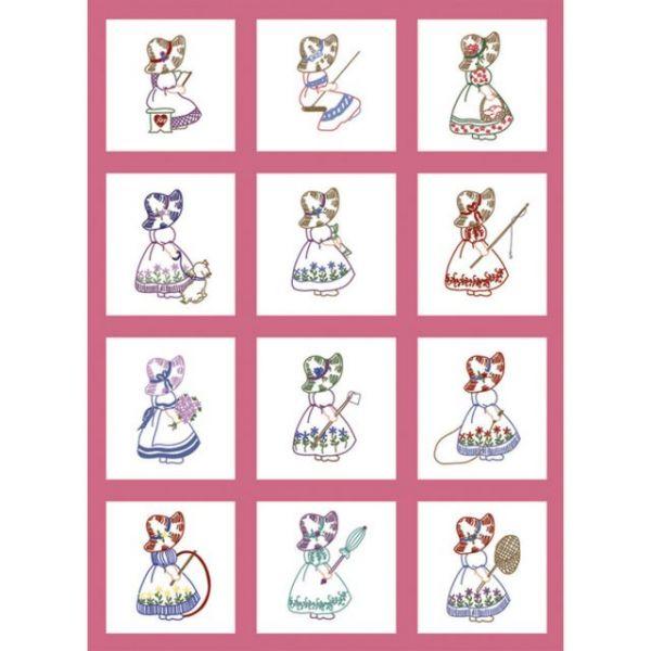 """Stamped Baby Quilt Blocks 9""""X9"""" 12/Pkg"""