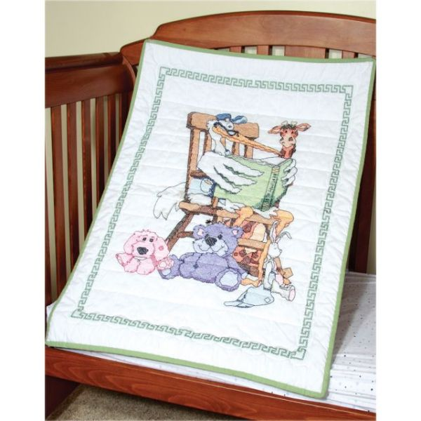 Fairway Stamped Baby Quilt Top