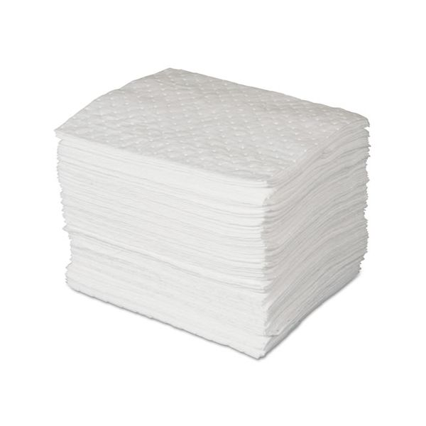 SPC MAXX Enhanced Oil-Only Sorbent Pads, .3gal, 15w x 19l, White, 100/Bundle