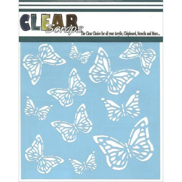 """Clear Scraps Stencils 6""""X6"""""""
