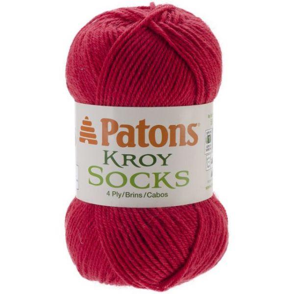 Patons Kroy Socks Yarn - Red